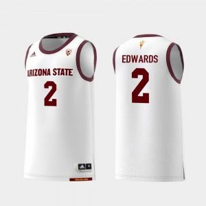College Basketball Rob Edwards ASU Jersey Replica #2 White Men's 397493-674