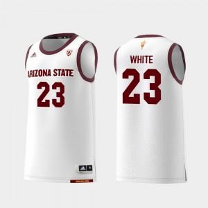 Replica College Basketball White Mens #23 Romello White ASU Jersey 700046-789