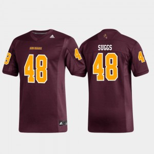 #48 Terrell Suggs ASU Jersey Alumni Football Replica Men's Maroon 742413-875