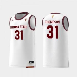 White #31 Replica College Basketball Trevor Thompson ASU Jersey Mens 691058-255