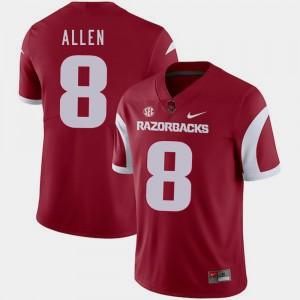 Cardinal Austin Allen Arkansas Jersey For Men's #8 College Football 709412-680