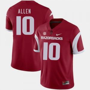 Cardinal #10 College Football Men's Brandon Allen Arkansas Jersey 986787-583