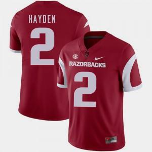 Cardinal For Men College Football Chase Hayden Arkansas Jersey #2 615790-354