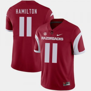 College Football Mens Cobi Hamilton Arkansas Jersey Cardinal #11 341951-602