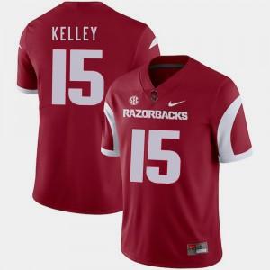 Men's College Football Cole Kelley Arkansas Jersey Cardinal #15 368198-644