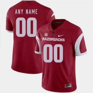 #00 College Football Cardinal For Men Arkansas Custom Jersey 967715-464