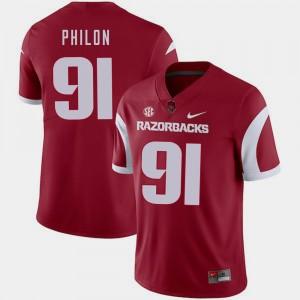Cardinal Darius Philon Arkansas Jersey #91 Mens College Football 724459-187