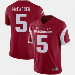 Men College Football Cardinal #5 Darren McFadden Arkansas Jersey 499702-432