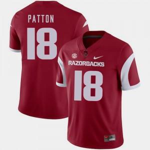 Jeremy Patton Arkansas Jersey #18 For Men Cardinal College Football 850011-184