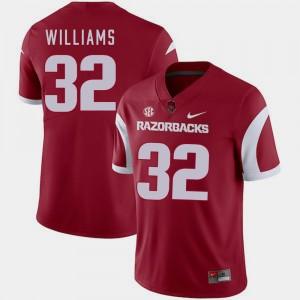 Jonathan Williams Arkansas Jersey Cardinal Mens College Football #32 297852-823