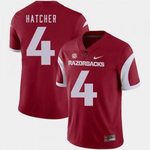 Keon Hatcher Arkansas Jersey #4 College Football For Men Cardinal 811393-748