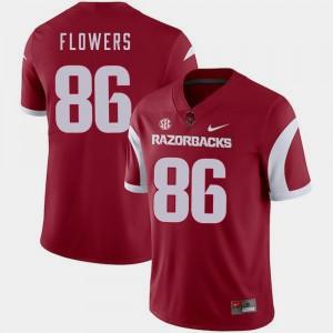 Cardinal College Football For Men #86 Trey Flowers Arkansas Jersey 227663-738