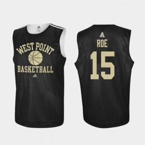 College Basketball Practice Men's #15 Adam Roe Army Jersey Black 193628-923