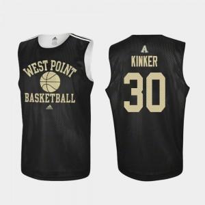 Black Men's Ben Kinker Army Jersey #30 Practice College Basketball 649066-807