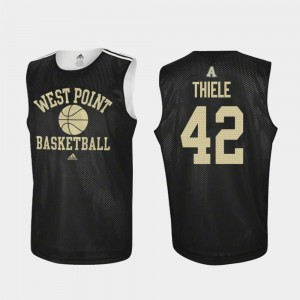 College Basketball #42 Practice Black For Men Brendan Thiele Army Jersey 765507-940