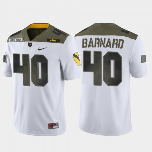 Cade Barnard Army Jersey Men White 1st Cavalry Division Limited Edition #40 605790-133