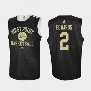 #2 Practice College Basketball Cayne Edwards Army Jersey Black Men 643282-638
