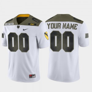 #00 Army Custom Jersey Limited Edition White For Men's 1st Cavalry Division 124773-381