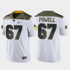 Mens #67 Dean Powell Army Jersey 1st Cavalry Division White Limited Edition 993926-825
