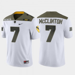 Limited Edition 1st Cavalry Division Men's White #7 Jaylon McClinton Army Jersey 367724-929