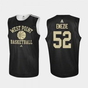 Black John Emezie Army Jersey College Basketball #52 Practice Men 223212-781