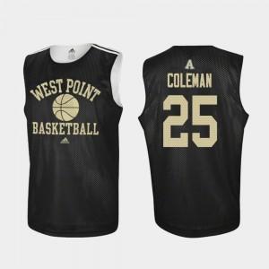Jordan Coleman Army Jersey #25 For Men's Practice College Basketball Black 260814-336