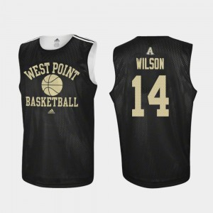College Basketball Black For Men Matt Wilson Army Jersey #14 Practice 964275-973