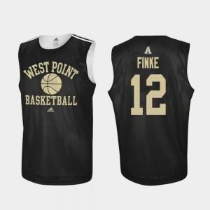 Practice Black For Men #12 College Basketball Nick Finke Army Jersey 972821-275