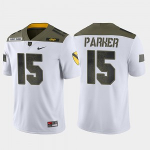 1st Cavalry Division White Mens Ryan Parker Army Jersey #15 Limited Edition 431229-443