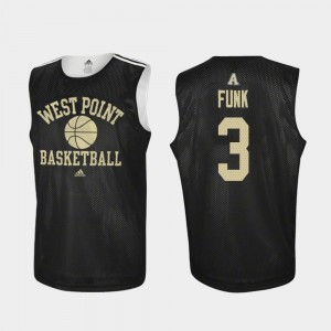 Black For Men #3 Tommy Funk Army Jersey Practice College Basketball 199628-724