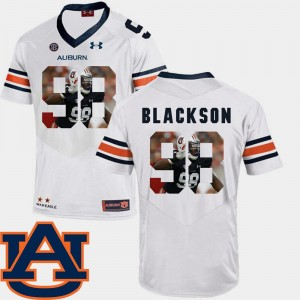 Football Pictorial Fashion #98 Men's Angelo Blackson Auburn Jersey White 204563-636