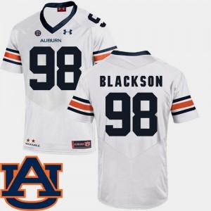 College Football White Men's SEC Patch Replica #98 Angelo Blackson Auburn Jersey 691073-953