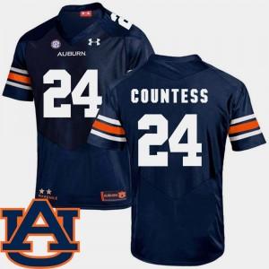SEC Patch Replica #24 College Football Men's Blake Countess Auburn Jersey Navy 222597-230