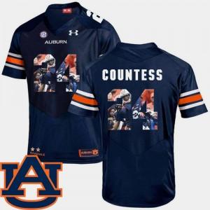 Football Blake Countess Auburn Jersey #24 For Men Navy Pictorial Fashion 276321-258