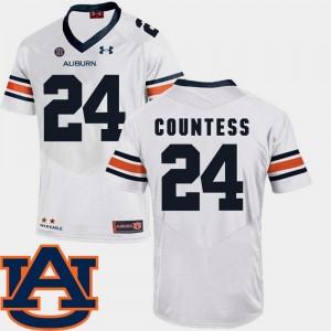 SEC Patch Replica College Football #24 Blake Countess Auburn Jersey White Men's 866628-665
