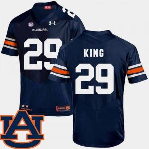 #29 College Football SEC Patch Replica Brandon King Auburn Jersey Navy For Men's 769397-351