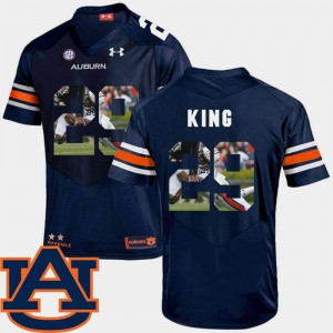 Brandon King Auburn Jersey Pictorial Fashion #29 Men's Football Navy 836676-345