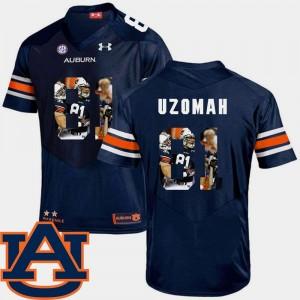 Mens Football Navy C.J. Uzomah Auburn Jersey Pictorial Fashion #81 897296-611