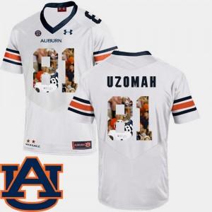 White #81 Mens C.J. Uzomah Auburn Jersey Football Pictorial Fashion 833832-502