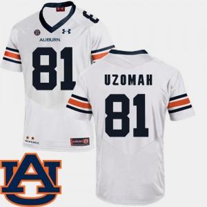 #81 White C.J. Uzomah Auburn Jersey Mens SEC Patch Replica College Football 527698-730