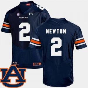 #2 Navy Men's SEC Patch Replica College Football Cam Newton Auburn Jersey 126609-766
