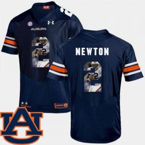#2 Football Pictorial Fashion Navy Cam Newton Auburn Jersey Men's 979833-771