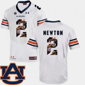 #2 Football Cam Newton Auburn Jersey White Pictorial Fashion Men's 160167-767