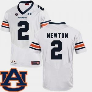 White Cam Newton Auburn Jersey #2 For Men College Football SEC Patch Replica 660429-364