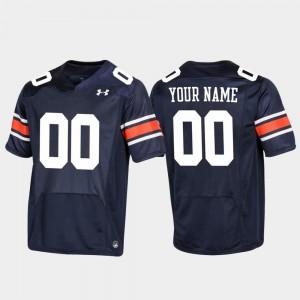 Football Replica For Men Auburn Custom Jerseys #00 Navy 307659-392