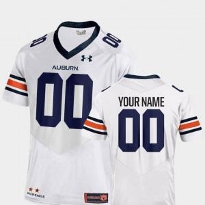 White Auburn Custom Jersey #00 2018 Replica For Men College Football 608672-791