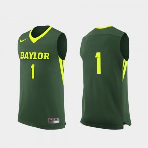 #1 College Basketball For Men's Replica Green Baylor Jersey 245154-395