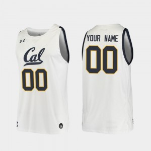 #00 Cal Bears Customized Jerseys 2019-20 College Basketball Replica White For Men's 819914-357