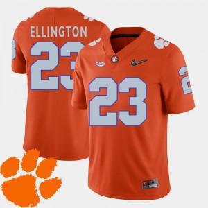 Orange Andre Ellington Clemson Jersey College Football 2018 ACC For Men's #23 827054-942
