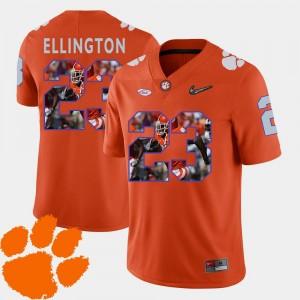 Orange Mens Pictorial Fashion Football Andre Ellington Clemson Jersey #23 995063-349